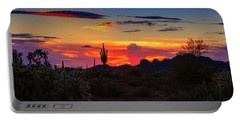 Portable Battery Charger featuring the photograph Monsoon Sunset by Rick Furmanek