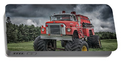 Portable Battery Charger featuring the photograph Monster Fire Truck by Guy Whiteley