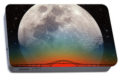 Portable Battery Charger featuring the photograph Monster Moonrise by Larry Landolfi