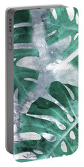 Monstera Theme 1 Portable Battery Charger