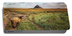 Mont Saint Michel's Sheep Portable Battery Charger