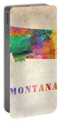 Montana Colorful Watercolor Map Portable Battery Charger