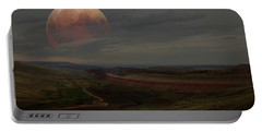 Montana Landscape On Blood Moon Portable Battery Charger