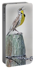 Montana Meadowlark's Spring Song Portable Battery Charger