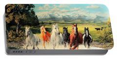 Montana Range Horses Portable Battery Charger