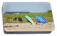 Portable Battery Charger featuring the photograph Montauk Beach Stuff by Art Block Collections