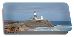 Montauk Lighthouse View From Camp Hero Portable Battery Charger