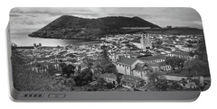 Monte Brasil And Angra Do Heroismo, Terceira Island, Azores Portable Battery Charger by Kelly Hazel