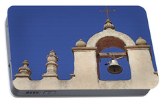 Portable Battery Charger featuring the photograph Montecito Mt. Carmel Church Tower by Art Block Collections