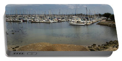 Portable Battery Charger featuring the photograph Monterey Harbor by Suzanne Luft