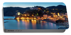 Portable Battery Charger featuring the photograph Monterosso Al Mare At Twilight by Brian Jannsen