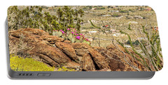 Montezuma Rd Cliff Side Flower Garden Portable Battery Charger