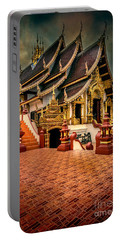 Portable Battery Charger featuring the photograph Monthian Temple Chiang Mai  by Adrian Evans