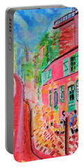 Montmartre Cafe In Paris Portable Battery Charger