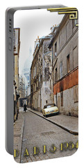 Portable Battery Charger featuring the photograph Montmartre - Titled by Chuck Staley