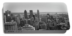 Montreal Cityscape Bw Portable Battery Charger
