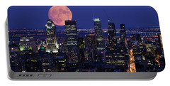 Portable Battery Charger featuring the photograph Montreal Supermoon by Mircea Costina Photography