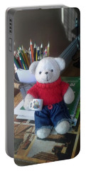 Monty At Writing Desk Portable Battery Charger