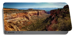 Monument Canyon And Saddlehorn Portable Battery Charger