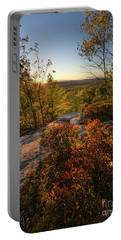 Portable Battery Charger featuring the photograph Monument Hill Sunset, Leeds, Maine #70047-49 by John Bald