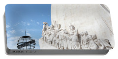 Portable Battery Charger featuring the photograph Monument Of The Discoveries by Rebecca Cozart