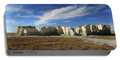 Monument Rock Afternoon  Portable Battery Charger by Christopher McKenzie