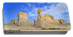 Monument Rocks In Kansas 2 Portable Battery Charger