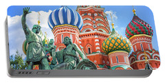 Portable Battery Charger featuring the photograph Monument To Minin And Pozharsky by Delphimages Photo Creations