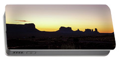 Monument Valley Sunrise, Utah Portable Battery Charger by A Gurmankin