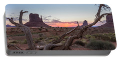 Monument Valley Sunrise With Wood  Portable Battery Charger