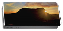 Monument Valley, Utah, Sunrise Portable Battery Charger by A Gurmankin