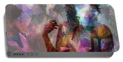 Moods In Abstract Pastel Portable Battery Charger