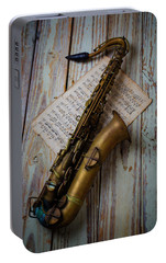 Moody Sax Portable Battery Charger by Garry Gay