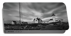 Moody Sky At Eastern Point Lighthouse Portable Battery Charger