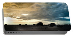Moody Sky, Dungeness Beach  Portable Battery Charger