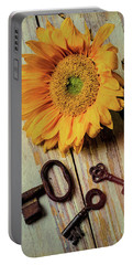 Moody Sunflower With Keys Portable Battery Charger