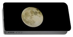Moon 1 Portable Battery Charger by Cathy Harper