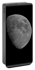 Portable Battery Charger featuring the photograph Moon 67 Percent Fr23 by Mark Myhaver