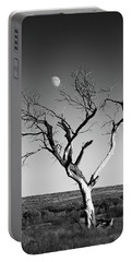 Moon And Memory At Bosque Del Apache N M Portable Battery Charger