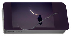 Raven Under Crescent Moon Portable Battery Charger