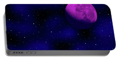 Portable Battery Charger featuring the photograph Moon And Stars by Mark Blauhoefer