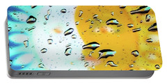 Moon And Sun Rainy Day Windowpane Portable Battery Charger