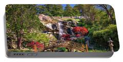 Portable Battery Charger featuring the photograph Moon Bridge And Maymont Falls by Rick Berk