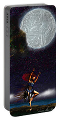 Portable Battery Charger featuring the digital art Moon Dancer by Iowan Stone-Flowers