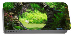 Moon Gate At Kinney Azalea Gardens Portable Battery Charger