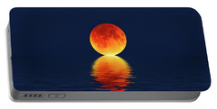 Moon Kissing The Sea Portable Battery Charger