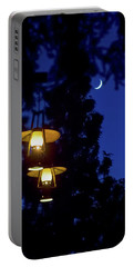 Portable Battery Charger featuring the photograph Moon Lanterns by Mark Andrew Thomas