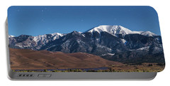 Moon Lit Colorado Great Sand Dunes Starry Night  Portable Battery Charger by James BO Insogna