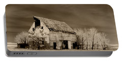 Moon Lit Sepia Portable Battery Charger by Julie Hamilton