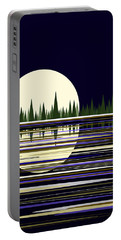 Moon Lit Water Portable Battery Charger by Val Arie